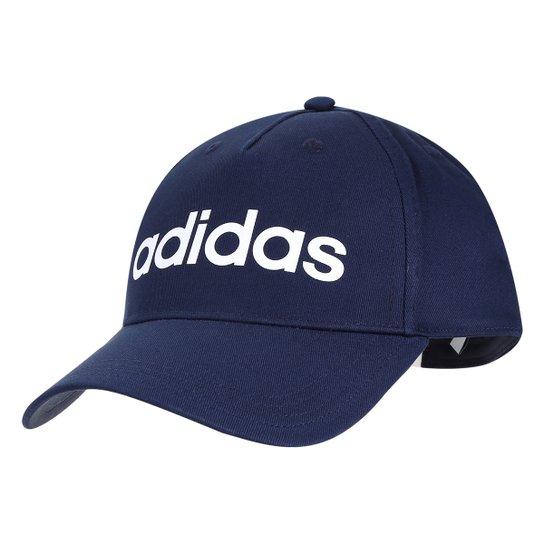 3a87a3005c00c Boné Adidas Aba Curva Daily Masculino - Marinho e Branco - Compre ...
