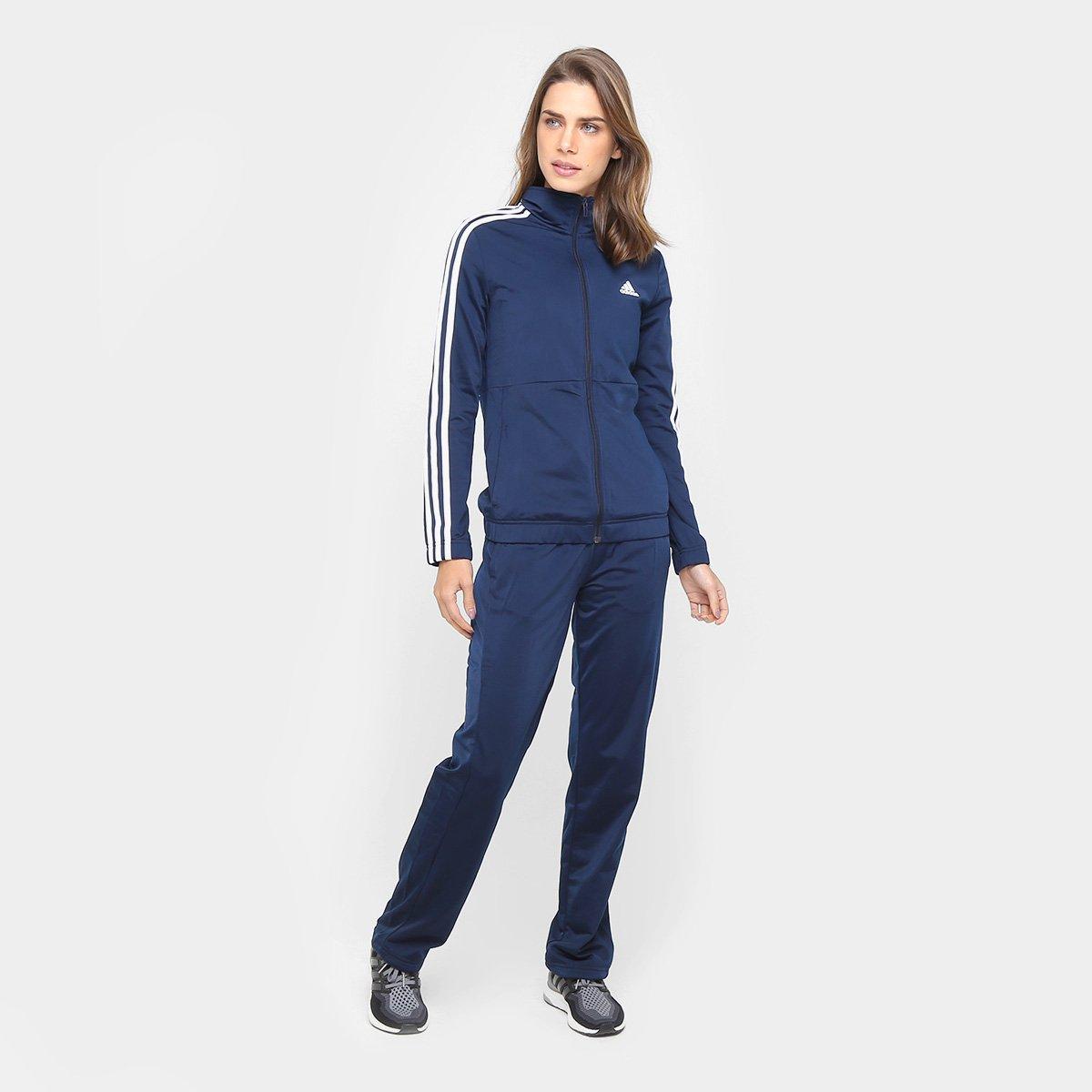 d8bbea42e6 Agasalho Adidas Back 2 Basic 3S Feminino