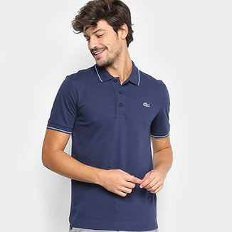 33fdeed615b Camisa Polo Lacoste Frisos Masculina