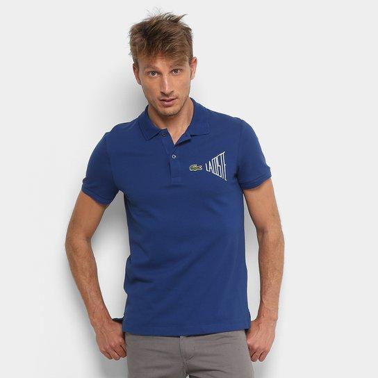 Camisa Polo Lacoste Clássica Masculina - Marinho e Branco - Compre ... bad4d30f6c870