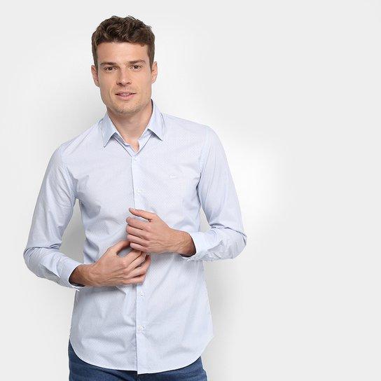 a5b5d279bff35 Camisa Lacoste Masculina - Marinho e Branco - Compre Agora