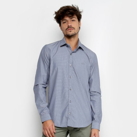 Camisa Lacoste Manga Longa Básica Masculina - Compre Agora   Zattini 946aae0d2b