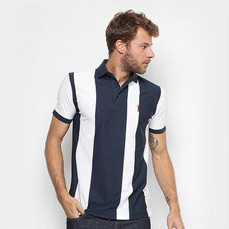 Camisa Polo Aleatory Malha Fio Tinto Vertical Masculina f5a9bbbf96deb