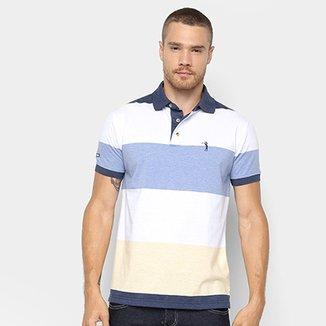 Camisa Polo Aleatory Estampa Listrada Masculina dbdd7194929cf