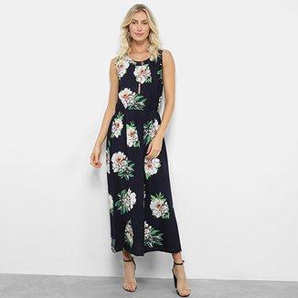acb192f289 Vestido Longo Estampado Floral Pérola Feminino