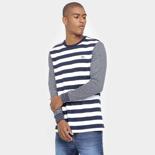 Camisa Lacoste Live Listras - Compre Agora   Zattini 7c14f8c109