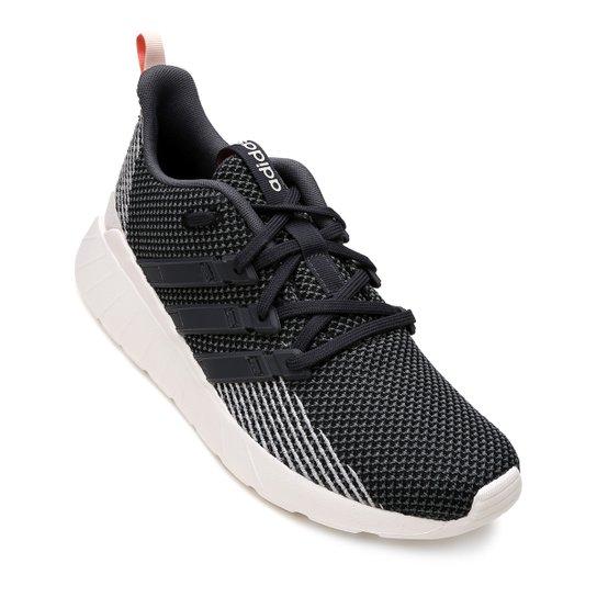 583ec6959 Tênis Adidas Questar Flow Feminino - Preto e Off White - Compre ...