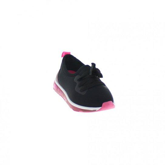 08de5c9013f Tênis Infantil Molekinha Casual sem CadarçoFeminino - Preto e Pink ...