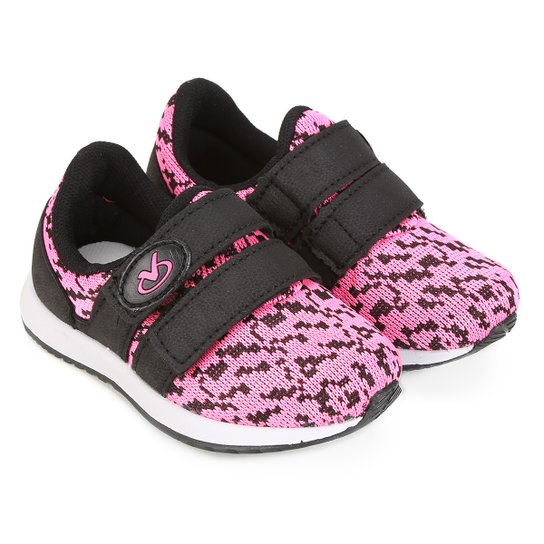 Tênis Infantil Via Vip Baby Velcro Feminino - Compre Agora  ba5ef82ab39a6