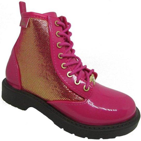 Bota Infantil Coturno Fashion Feminina - Pink - Compre Agora  ffe1c48e5e8