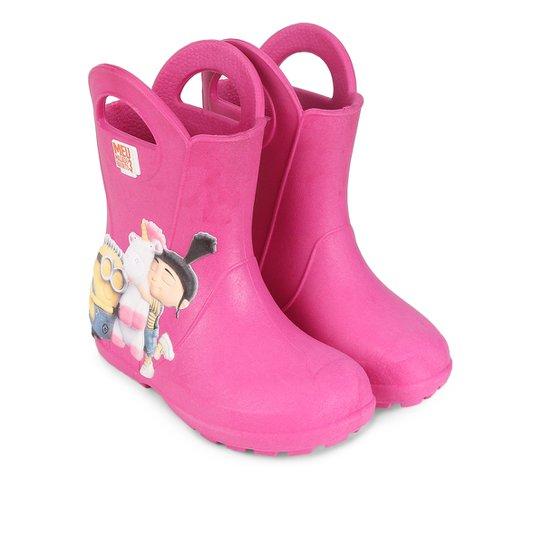 301d440e30 Galocha Minions Plugt Infantil - Pink