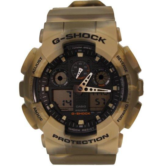 8ffeb20dc6a Relogio Casio G-Shock Ga-100Mm - Marrom