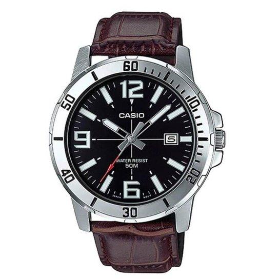 1ea083f77b3 Relógio Casio Masculino MTP-VD01L-1BV - Marrom - Compre Agora