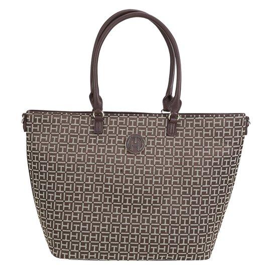 04b2a0f06 Bolsa Tommy Hilfiger Tote Jacquard Feminina - Compre Agora | Zattini