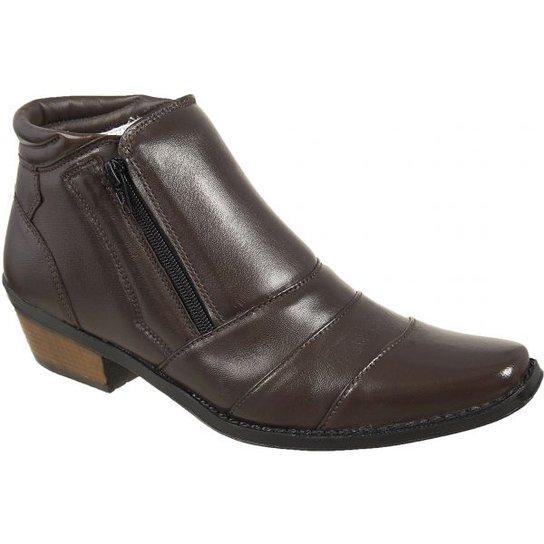 4eca20bb0 Bota Country Casa do Sapato Lisa - Marrom   Zattini