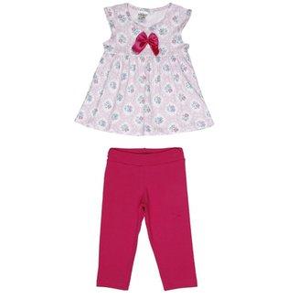 8f4cb3ff3e Conjunto Infantil Para Bebê Menina - Azul coral