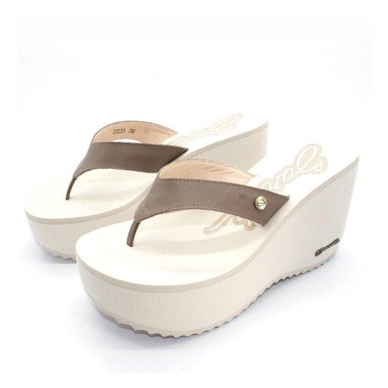8078fc2200 Tamanco Barth Shoes Sorvete Bicolor Tratorado - Marrom - Compre ...