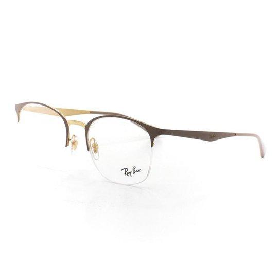 59e647f4098ee Armação De Óculos De Grau Ray Ban 6422 T 51 C 3005 Feminino - Compre ...