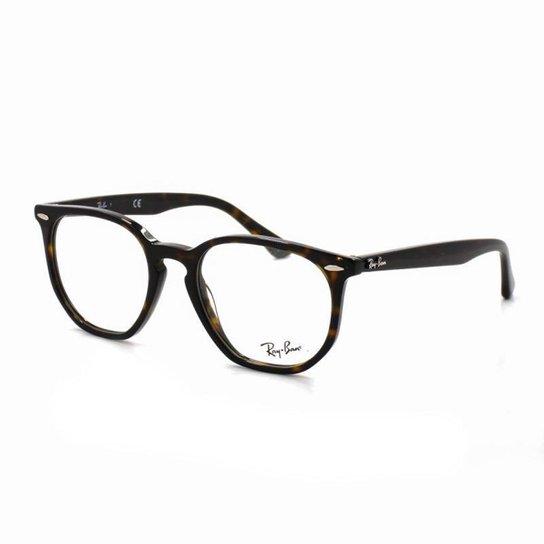 Armação De Óculos De Grau Ray Ban 7151 T 52 C 2012 Retrô Tartaruga - Marrom 58de495b98