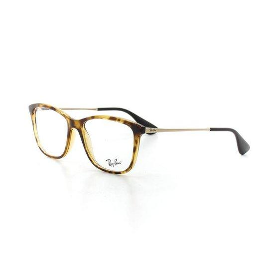 f1a73c70a Armação De Óculos De Grau Ray Ban 7135L T 54 C 5822 Tartaruga Feminino -  Marrom