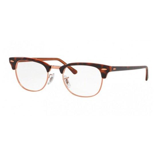 a88cab8b6 Óculos de Grau Ray Ban Clubmaster RX - Marrom | Zattini