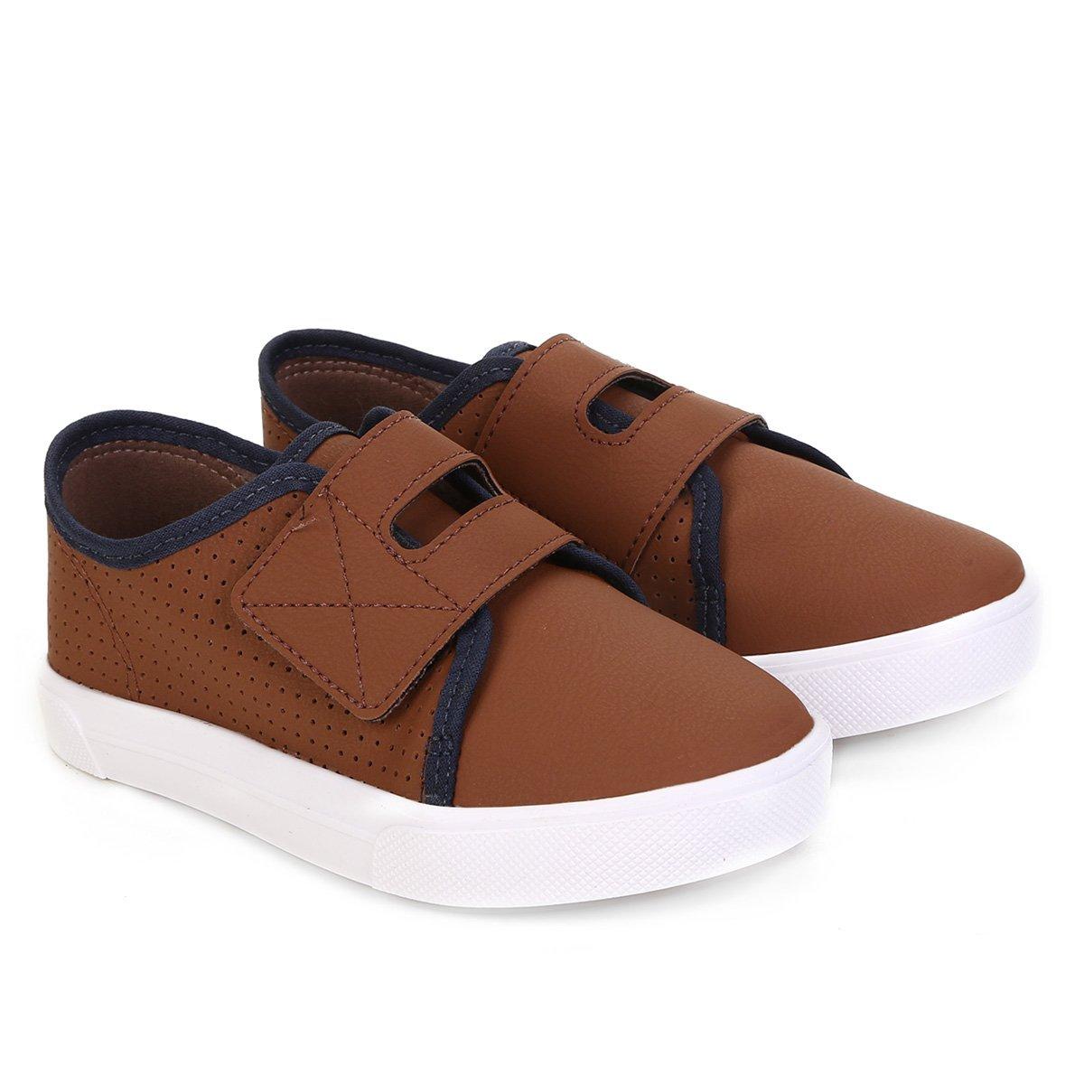e85c8737d8 Sapato Casual Infantil Molekinho com Velcro