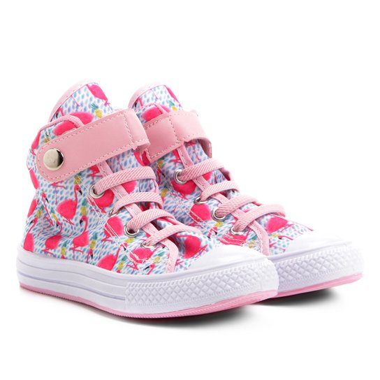 6ce5106304e Tênis Infantil Cano Alto Kurz Flamingos Feminino - Pink - Compre ...