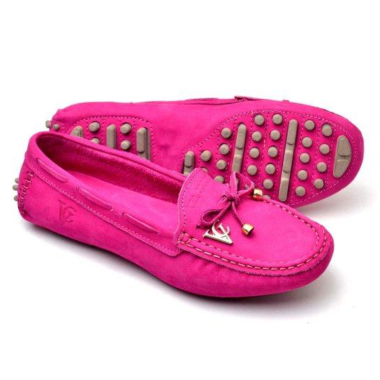5b18c20e3b Mocassim Drive Sapatilha Feminina Via Confort Couro - Pink - Compre ...