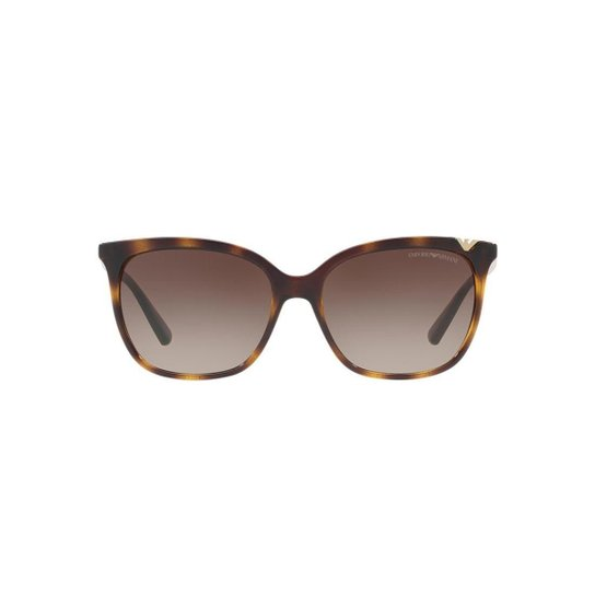 f6fe317603ee5 Óculos de Sol Emporio Armani Quadrado EA4094 Feminino - Marrom ...