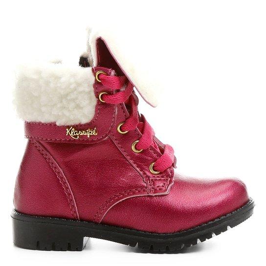 Bota Infantil Coturno Klassipé Tratorada Feminina - Pink - Compre ... df653f43b1c