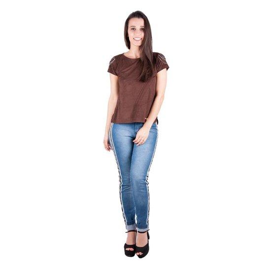 24f6bccc4 Camiseta Banna Hanna Suede Com Revel Feminina | Zattini