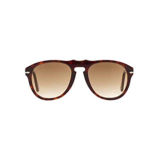 60aea3382301e Óculos de Sol Persol Piloto PO0649 Masculino - Marrom - Compre Agora ...