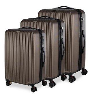 87c44d56c Conjunto de Malas de Viagem em ABS Swiss Portinari New York