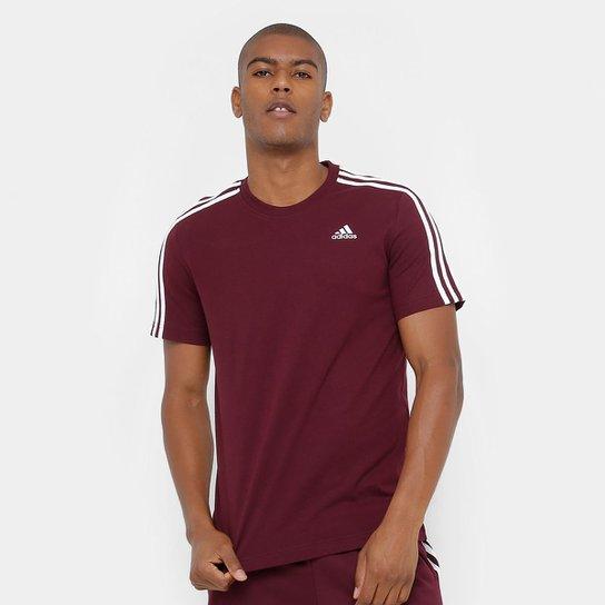 Camiseta Adidas Ess 3S Masculina - Marrom - Compre Agora  d81edbb4647ce