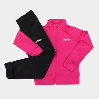 983ee0f5033983 Conjunto Agasalho Infantil Adidas YG ENTRY Feminino