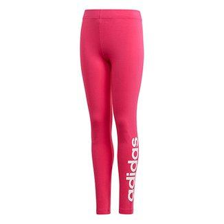 559fbf6e1 Calça Legging Infantil Adidas Estampa Logo YG Lin Tght Feminina