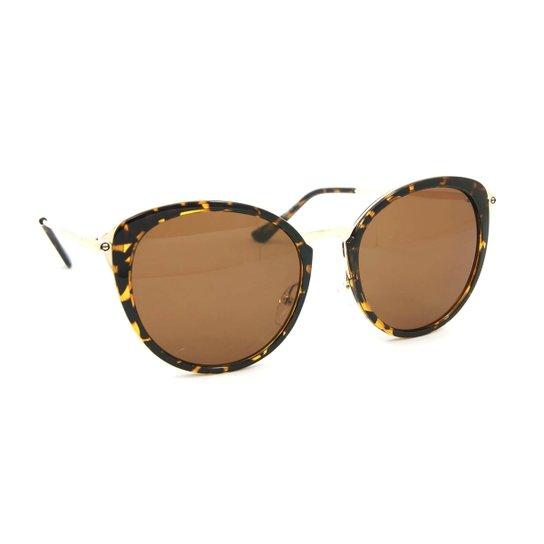 d8f564697 Óculos de Sol Gatinha com Lente Retrô Oncinha | Zattini