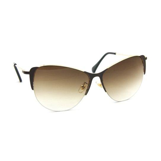 f9a497914f4e8 Óculos de Sol Gatinha Glamour Lente Degradê - Marrom - Compre Agora ...