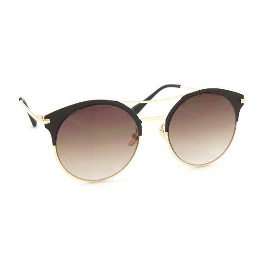 Óculos de Sol Estilo Top Bar com Lente Redonda - Compre Agora   Zattini 1d7460d29c
