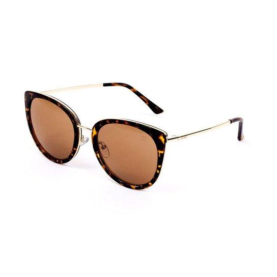 Óculos de Sol Estilo Gatinha - Marrom - Compre Agora   Zattini b802a91706