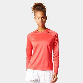 c646903a2b0 Camiseta Adidas D2M Manga Longa Feminina
