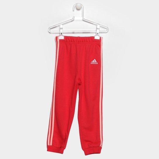44a26e146 Calça Moletom Infantil Adidas I Fav Kn - Vermelho - Compre Agora ...