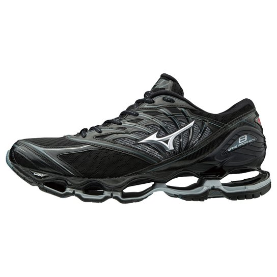 b7d859adb3 Tênis Mizuno Wave Prophecy 8 Masculino - Preto e Prata - Compre ...