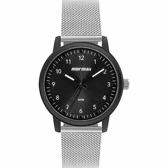 813b65d462c Relógio Mormaii MO2035JC 4P Masculino - Preto e Prata - Compre Agora ...