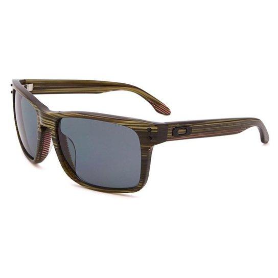 742514d44dbd6 Óculos Oakley Holbrook Lx Banded Green Grey Polarizado - Compre ...
