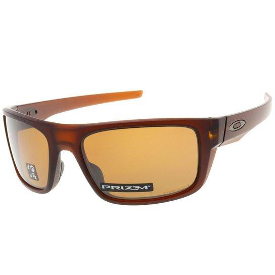 Óculos Oakley Drop Point Matte Rootbeer  Lente Prizm Tungsten Polarizada  Masculino - Marrom e90a6cb54e