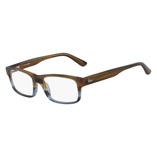 bfd97a3e62202 Armação Óculos de Grau Lacoste L2705 210 53 - Marrom - Compre Agora ...