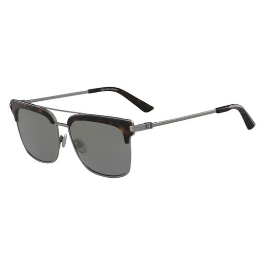97309041f586e Óculos de Sol Calvin Klein CK8049S 718 56 - Marrom - Compre Agora ...