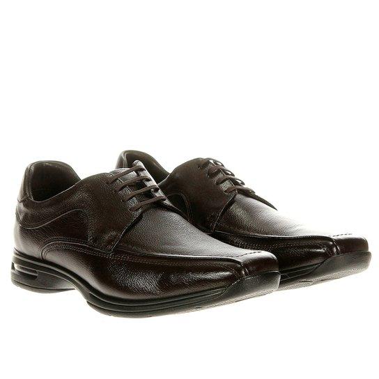 be53d98d699 Sapato Social Democrata Air Stretch Spot - Marrom - Compre Agora ...