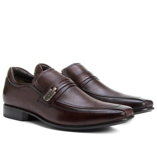 Sapato Social Couro Democrata Sport - Marrom - Compre Agora  096dafbafcd